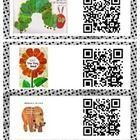 QR codes for 25 of Eric Carle's beloved books! 2 ways to print - using either mailing labels or create a ring of QR codes by laminating and placing on a binder ring. Can be used with any QR reader app. My students LOVE audio book QR codes!