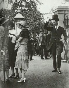 Mrs Edward Wyndham, Lady Gosford and Lady Joan Peake at a Royal Garden Party in Buckingham Palace in 1926.
