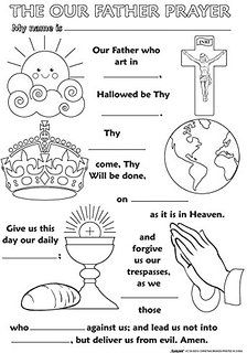 The Lord's Prayer Activity Sheets Pdf : lord's, prayer, activity, sheets, Lord's, Prayer, Children, Ideas, Prayers, Children,, Lords, Prayer,, Sunday, School, Crafts