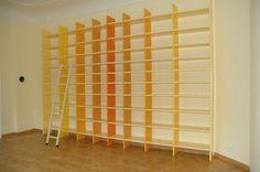Bücherwand in einem Privathaushalt in Cottbus.