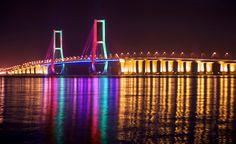 Suramadu Bridge Bridge, Surabaya, Architecture, Travel, Arquitetura, Viajes, Bridge Pattern, Bridges, Destinations