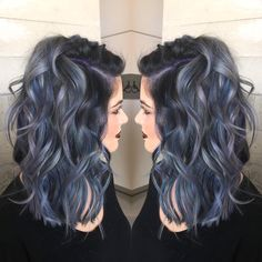 Deep purple and blue hair next hair color I think so Dye My Hair, New Hair, Pastel Hair, Bright Hair, Colorful Hair, Pastel Grey, Pretty Hairstyles, Pink Hairstyles, Gothic Hairstyles