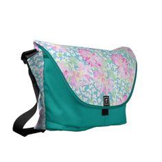 Messenger Bag, Pink Roses, White Butterflies - http://www.zazzle.co.uk/messenger_bag_pink_roses_white_butterflies-210331598965798365?rf=238041988035411422