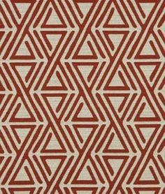 Robert Allen @ Home Triangle Maze Currant Fabric - $19.6 | onlinefabricstore.net