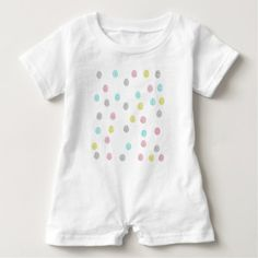 Pastel Polka Dots Baby Romper - party gifts gift ideas diy customize