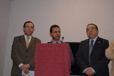 A la izquierda Don Manuel Guerra González (alcalde de Aracena), en el centro Don Antonio Muñiz Carrasco (alcalde de Aroche) y a la derecha Don Pedro G. Diaz Bellido (hijo de Don Paulino Diaz Alcaide fundador del Museo) UnicoEnElMundo