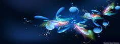 Blue Abstract timeline cover