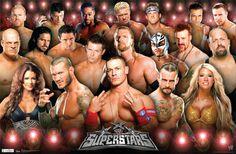 WWE Wrestlers/ sportsposterwharehouse.com