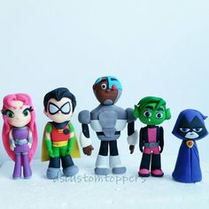 Teen Titans  fondant cake toppers by DsCustomToppers on Etsy
