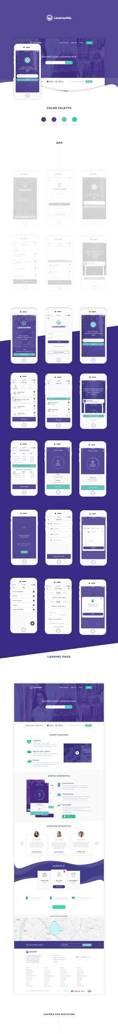 다음 @Behance 프로젝트 확인: \u201cLavamosNós App + Landing page\u201d https://www.behance.net/gallery/46210027/LavamosNos-App-Landing-page