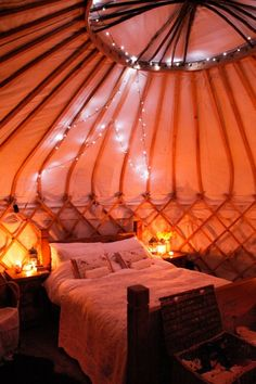 Romantic honeymoon yurt