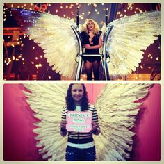 Britney's wings from the Femme Fatale tour are now located in her section of the Kentwood Museum in her hometown of Kentwood, Louisiana. ❤ #britneyspears