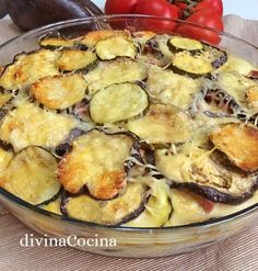 Receta de pastel de berenjenas y calabacines - Divina Cocina