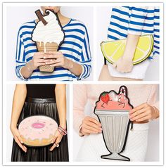 Wholesale PU Women Leather Ice Lolly Handbags Unique Clutch Purses And Hand bags New Look Design High Quality Free Shipping