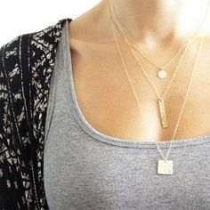 Love these layered necklaces!!