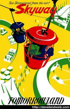 Disneyland Sky Buckets Attraction Poster ~ Signed By Designer & Disney Legend Bob Gurr Disney Rides, Disney Love, Disney Magic, Disney Parks, Walt Disney, Disney Stuff, Vintage Disney Posters, Disney Movie Posters, Vintage Disneyland