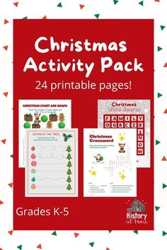 Your students will love this fun, engaging, no prep, 24-page printable Christmas Activity Pack! Also perfect for the 24 days before Christmas for homeschooling! This activity pack is full of different activities for all elementary ages. It's great for independent centers, morning work, and early finishers. Your students are sure to have fun and learn at the same time! #historyathome #printables #christmas #christmasactivities #activitypack #bundle #elementary #christmasfun #homeschool Christmas Activities, Classroom Activities, Activities For Kids, Christmas Fun, Homeschool Curriculum, Homeschooling, Teaching Reading, Learning, Public Speaking