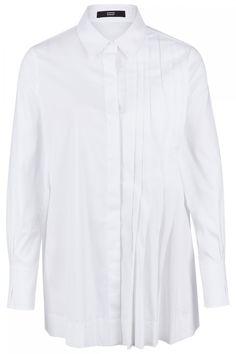 Steffen Schraut Damen Bluse mit Plissee Weiss | SAILERstyle Diy Sofa Cover, Pullover, Shirts, Shirt Dress, Mens Tops, Dresses, Fashion, Elegant Clothing, Cuffs