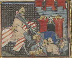Arsenal, King Arthur, Medieval Fantasy, 14th Century, Painting, Wallpaper, Illuminated Manuscript, Livres, Painting Art