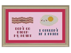 This cross-stitch pattern is just the thing for pun-loving cooks to hang in their kitchens.