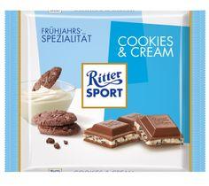 RITTER SPORT Frühlingssorte Cookies & Cream (2014)