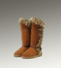 I must have these boots. UGG Fox Fur Tall 1984 Chestnut Boots For Sale In UGG Outlet Save more than $100, Free Shipping, Free Tax, Door to door delivery