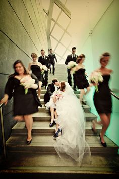 30 Fun Bridal Party Photos - A Frozen Moment in Time – After months of planning, 24 incredible hours pass by in a blur. Wedding Photography Inspiration, Wedding Inspiration, Jolie Photo, Wedding Poses, Wedding Ideas, Party Photos, Wedding Pictures, Wedding Bells, Marie