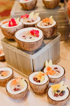 For breakfast, guests enjoyed cherry-chia seed pudding and coconut acai bowls.  Photo: Cameron Kelly