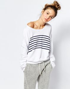 Image 1 ofSundry Stripe Sweatshirt