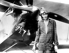 Amelia Earhart (1897-1937) was a noted American aviation pioneer and author. Earhart was the first woman to receive the U.S. Distinguished Flying Cross, awarded for becoming the first aviatrix to fly solo across the Atlantic Ocean. She set many other records, wrote best-selling books about her flying experiences and was instrumental in the formation of The Ninety-Nines, an organization for female pilots. She was also a member of the National Woman's Party, and an early supporter of the ERA.