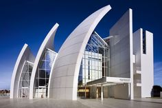 Richard Meier's Jubilee Church in Rome via Architectural Digest