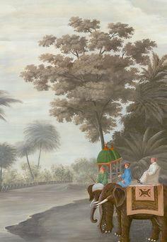 Promenade à Goa (papier peint panoramique) - Ananbô