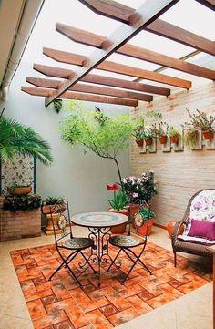 Pergola Connected To House Small Backyard Patio, Backyard Patio Designs, Diy Patio, Patio Ideas, Small Pergola, Pergola Ideas, Rustic Patio, Modern Pergola, Pergola Kits