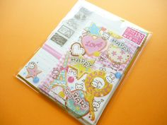♥B-day gift from Greivin♥ Kawaii Cute Letter Set Happy Happy Sugar Mind Wave (36669)