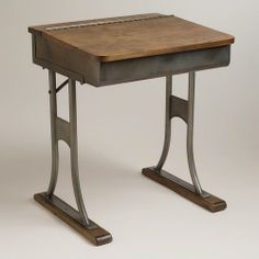 Gunmetal Schoolhouse Desk