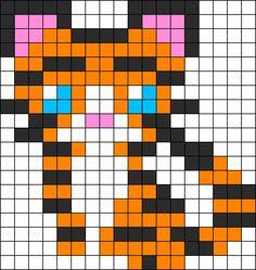 Kawaii Tiger perler bead pattern