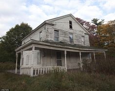Eerie: An abandoned house is pictured in The Catskills region of upstate New York, a once-...