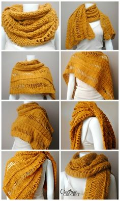 This oversize wrap combines simple stitches with a creative twist to make them pop. Created all with dc and chains only. Some of the chains are left alone for an open look, while others are twisted into a jacobs ladder. These changes in texture give this wrap a great overall look that is easy to [...] Crochet Shawls And Wraps, Crochet Poncho, Love Crochet, Crochet Scarves, Crochet Clothes, Easy Crochet, Simply Crochet, Double Crochet, Crochet Designs