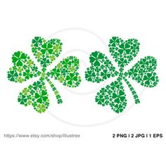 Lucky four leaves clover, green shamrock leaf, St. Patrick's day,... (€2,79) ❤ liked on Polyvore featuring accessories