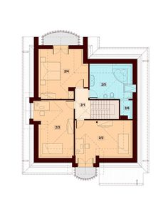DN Karen is a house with an attic, basement with garage single user in a block building. The project is. Dream Home Design, House Design, House Plans, Floor Plans, Wolf Wallpaper, Cottage, How To Plan, Attic, Building
