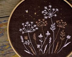 Wildflower, Hand Embroidery pattern, Night meadow, Hand embroidery, Flowers embroidery by NaiveNeedle FINISHED SIZE: approx 6x6,5 (15 cm x 16,5 cm) - shown here in a painted 8 (20 cm) embroidery hoop. THIS 7-pages PDF FILE INCLUDES: 1 Design Instructions to Transfer Image Instructions for Embroidery 1 Tracing Pattern 1 Reversed Tracing Pattern Embroidery scheme ( DMC thread colours and number of strands ) Stitching guide Also the PDF file contains useful active links about methods and…