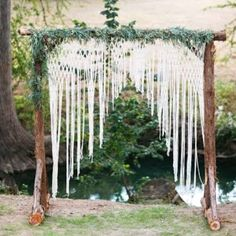 This handmade macrame wedding backdrop is flying off the shelves to boho brides around the globe.  Get yours now.