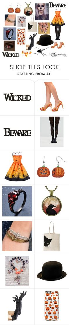 Halloween Outfit by destinyy54321 on Polyvore featuring ASOS and Sweet Romance