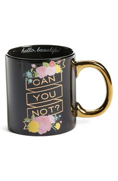 Let this gold-handled mug do the talking while coffee does its morning thing.