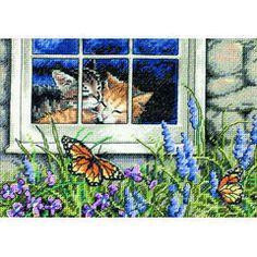Feline Love Cross Stitch Kit