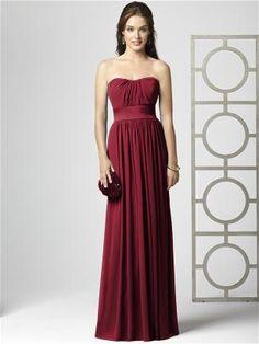dress option in claret red, close to crimson