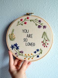 They are so popular Floral Wreath Embroidery Hoop Art Wall Hanging Flower Circle Art ., You are so popular Floral Wreath Embroidery Hoop Art Wall Hanging Flower Circle Art Gift Idea Needlepoint Hand Embroidered Quote Places Like Heaven. Diy Easy Embroidery, Hand Embroidery Stitches, Embroidery Hoop Art, Cross Stitch Embroidery, Embroidery Ideas, Modern Embroidery, Hand Stitching, Embroidery Sampler, Knitting Stitches
