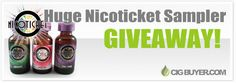 Enter to Win a Nicoticket E-Juice Sampler from @cigbuyer: http://www.cigbuyer.com/nicoticket-e-juice-sampler-giveaway/ #ecigs #vaping #nicoticket #eliquid #ejuice #vapelife #vapegiveaway