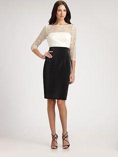 Kay Unger - Lace Bodice Dress - Saks.com