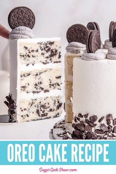 Oreo Cake Recipes, Cake Filling Recipes, Homemade Cake Recipes, Best Cake Recipes, Cake Flavors, Wedding Cake Recipes, Homemade Oreo Cookies, Cake Fillings, Cookies N Cream Cake Recipe